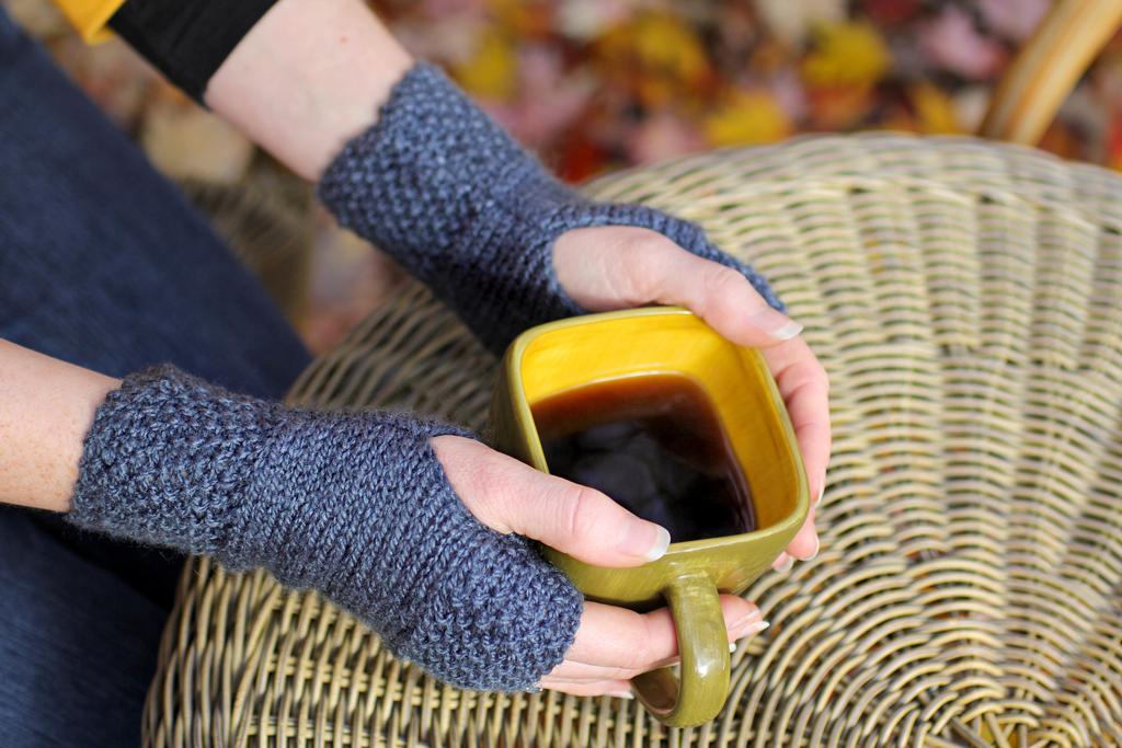Tea-Dyed Hand Warmers